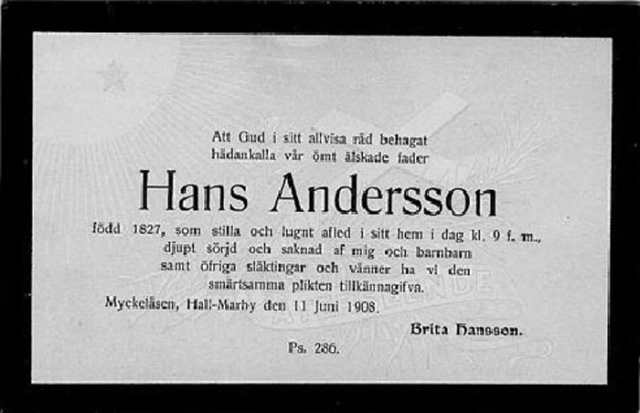 1908 Hans Andersson